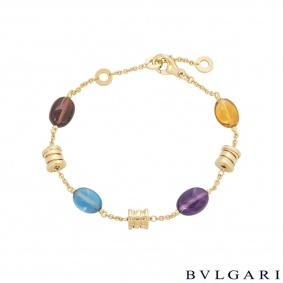 Bvlgari Yellow Gold Multi-Gem B.Zero1 Mini Bracelet BR854519